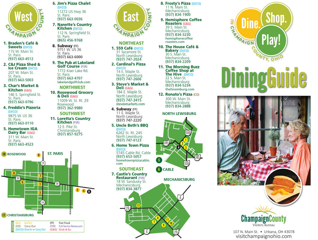 Champaign County Dining Map