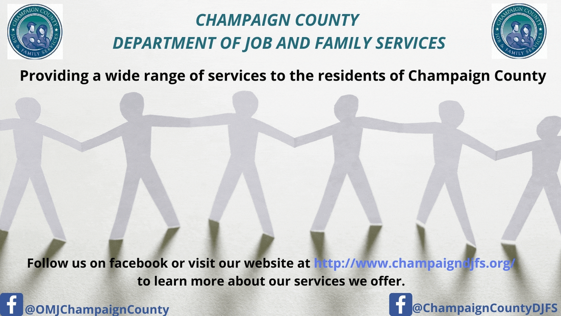 Champaign County Job and Family Services banner